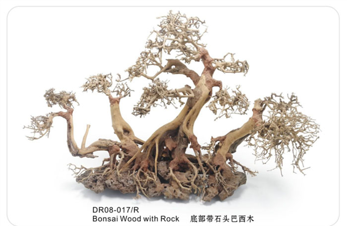 Wholesale Wood Root With Slate Rock Driftwood Aquarium Decor Sculpture