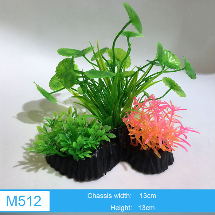 Different Types 2Inch 4Inch 5Inch Artificial Aquarium Plastic Plants